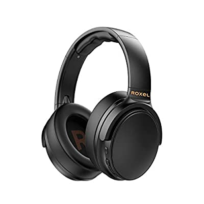 Roxel H500BT Wireless Over Ear Headphone with Microphone, Quick USB Charging with 15 Hours Battery Life, Bluetooth Compatible with Android and IOS Devices,Answer Incoming Calls, Black from Roxel