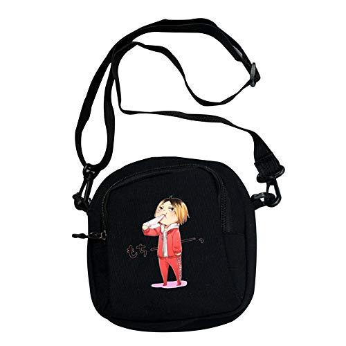 dili-bala Mode Anime Haikyuu !! Cosplay Messenger Bag Canvas Umhängetasche Handtasche Rucksack Schultasche(15 * 16cm H01)