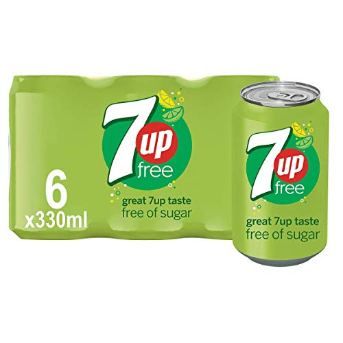 7UP Free - Lemon & Lime Flavoured Fizzy Drink - Sugar-Free - 6 x 330 ml cans