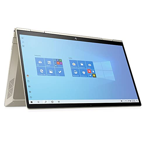 HP ENVY x360 13-bd0255ng (13,3 Zoll / Full HD Touch) 2in1 Convertible Laptop (Intel Evo, Intel Core i5-1135G7, 8GB DDR4 RAM, 512GB SSD, Intel Iris Xe Grafik, Win 10, QWERTZ) gold, Fingerprintsensor