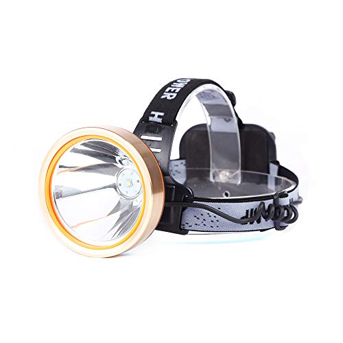 LED Rechargeable Headlamp, 9000mAh Spotlight Headlight Waterproof Head Flashlight Coon Hunting Lights Fishing Lamp Searchlight for Outdoor, Camping, Lamparas Recargables (White light)