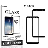 2 Pack-Tempered Glass for Samsung Galaxy A8 Plus 2018,[Black]...