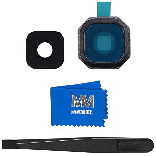MMOBIEL Repuesto Lente para cámara Trasera Compatible con Samsung Galaxy A3 / A5 / A7-2016 (Negro) Incl. Pinzas