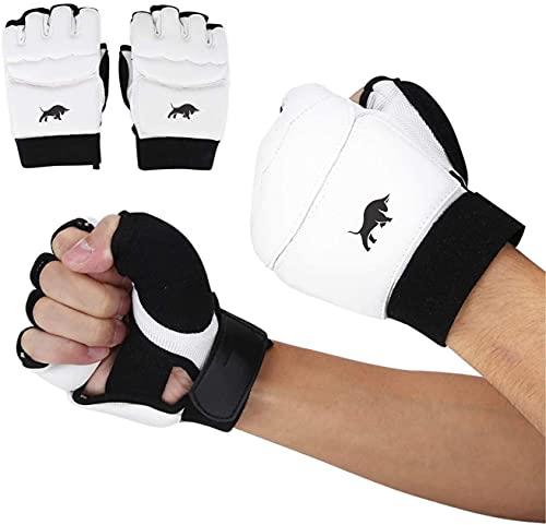 Drange MMA Gear Boxing Training Gloves Fighting Gloves Half Finger Boxing Gloves Martial Arts Sparring Mitts Gloves Grappling Punching Kickboxing Muay Thai Taekwondo Gloves for Women Men Kids (S/M)