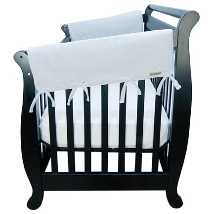 """Trend Lab Waterproof CribWrap Rail Cover - For Wide Side Crib Rails Made to Fit Rails up to 18"""" Around, 2PK, Gray, Wide Side Rail - 2pc."""