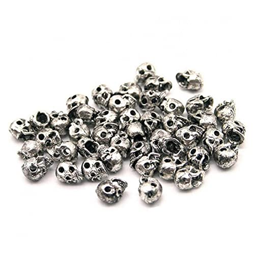 20 Pcs Antiguo Skull Spacer Beads Charm DIY Accesorios para Joyería Que...