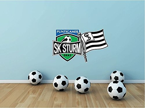 SK Sturm Graz FC Austria Soccer Football Sport Home Decor Art Wall Vinyl Sticker 63 x 38 cm