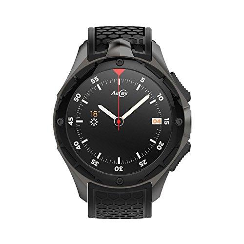 Smartwatch Handy, AllCall W2 – Android 7.0 2GB RAM 16GB ROM Kamera 460 mAh IP68 Wasserdicht, Wettervorhersage 3G Smart Uhr Phone (Schwarz)
