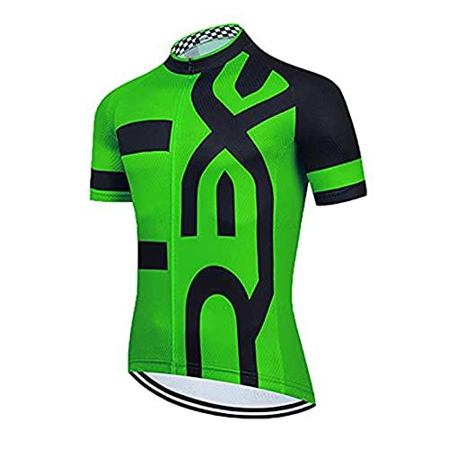 Maillot Ciclismo Hombre, Maillot MTB de Manga Corta Camiseta Bicicleta Transpirable con...