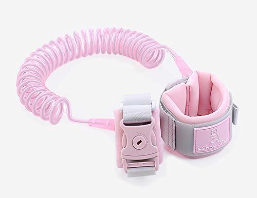 Kinder Sicherheitsleine, 2m Kinder Leine Handgelenk, Anti-verloren Gürtel Handgelenk Link(Pink)