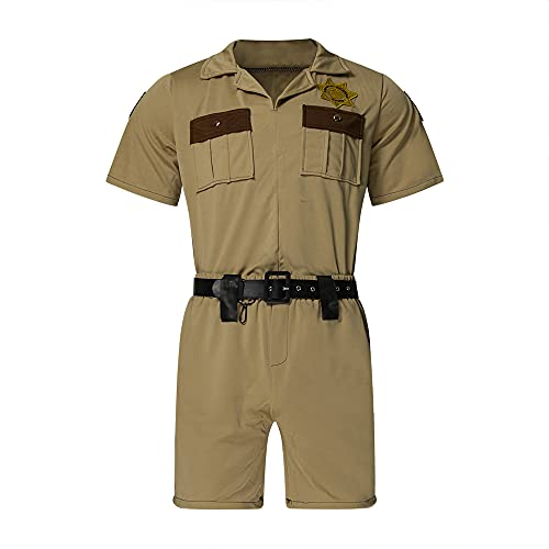 Mens Reno Lt Dangle Costume Police Sheriff Troopers Uniform Suit L