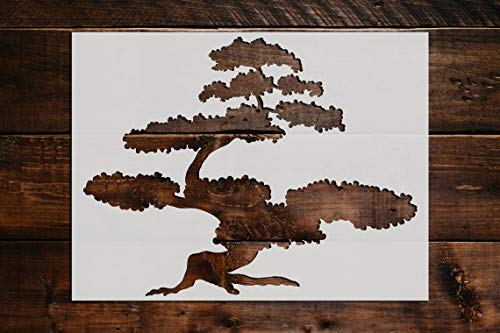 Bonsai Tree Stencil DIY Reusable Craft and Painting Wall Stencils - 694 (5'x6')