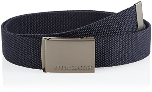 Urban Classics Canvas Belts Belt, Navy, One Size Unisex