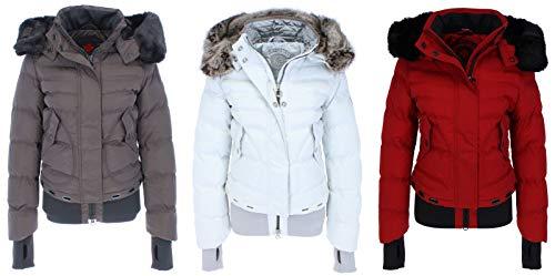 Wellensteyn - Queens QUE-382 Damen Winterjacke, Größe:L, Farben:Snowwhite