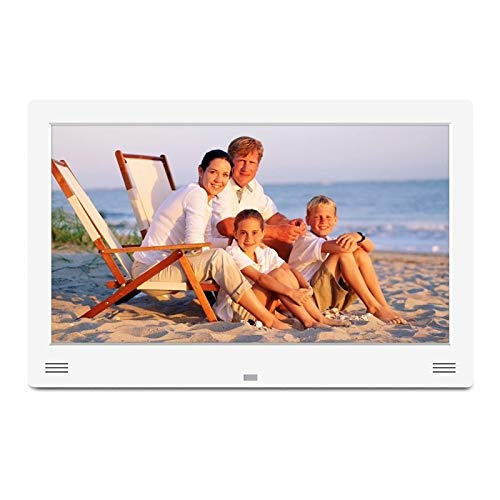 KAIFAN Cornice per Foto digitali Foto Elettronica Cornice, 11,6 Pollici Supporto Display a LED SD/MS/MMC e USB e HDMI e Ingresso AV, for la casa (Color : White)