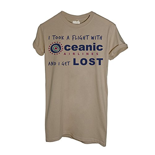 MUSH T-Shirt Lost - Volo Oceanic - Film by Dress Your Style - Uomo-L-Sand