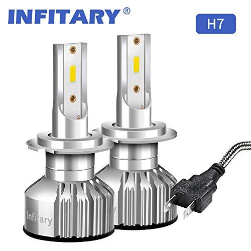 Infitary 2 * H7 LED 72W 10000LM, Headlight Auto Car Lamp Lights Conversion Light Bulb, 6500K, IP 67
