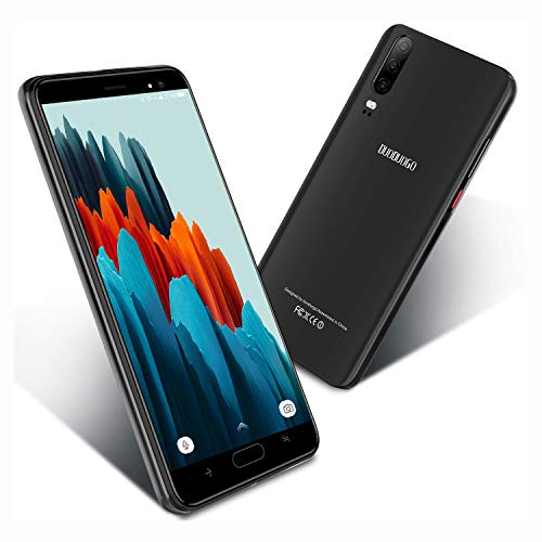 Moviles Libres Baratos de 5,5''Pulgadas Android 9.0 Certificado por Google GMS 16GB ROM Smartphone Libres Quad Core Teléfono Móvil 4800mAh Moviles Baratos y Buenos 4G(Negro)