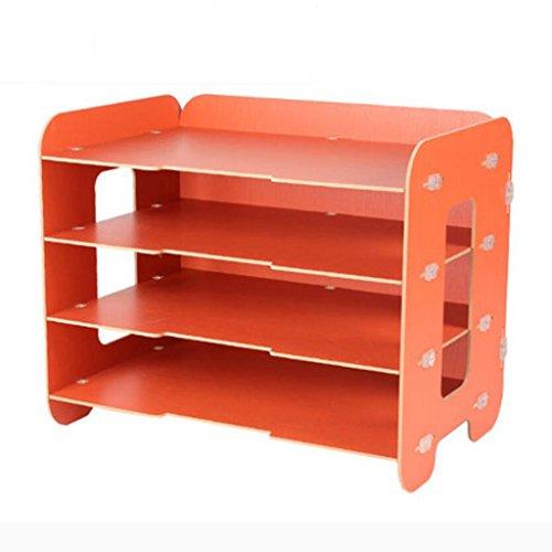 Liuyu · Maison de Vie Fichier Plateau Creative Bricolage Bureau Bureau Boîte De Rangement Woody A4 Finition Cabinet (Couleur : Orange)