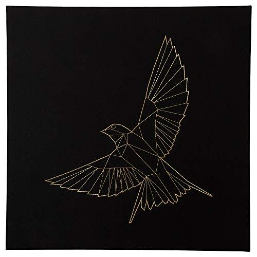 PJÄTTERYD bild 56 x 56 cm gyllene fågel