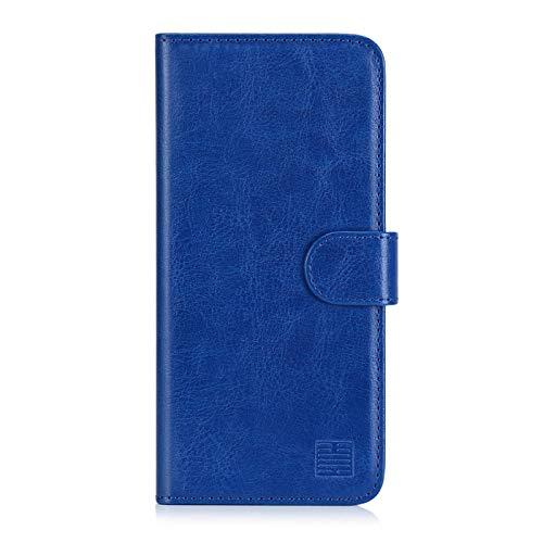 32nd PU Leder Mappen Hülle Flip Hülle Cover für Nokia 2.2 (2019), Ledertasche hüllen mit Magnetverschluss & Kartensteckplatz - Blau