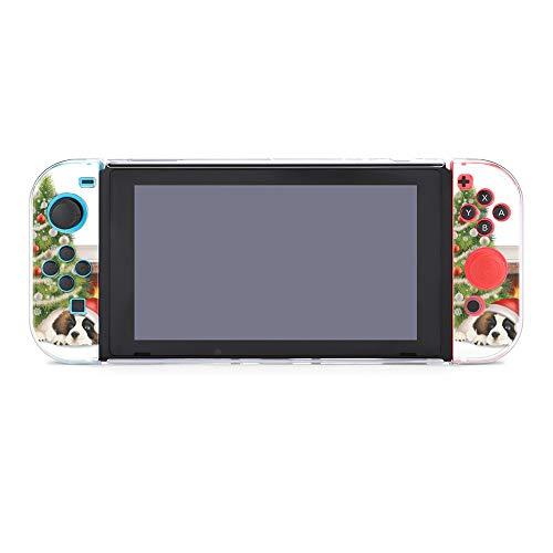 Hülle für Nintendo Switch Weihnachtsbaum Hund Kamin Fünf Stück Set Schutzhülle Case Kompatibel mit Nintendo Switch Spielkonsole