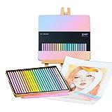 Lapices Colores ZWRY 12/24 lápices de colores pastel suaves lápiz no tóxico lapis de cor lápices de colores para escolares 24PastelSquare