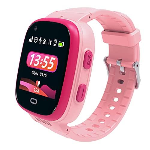 mooderf Reloj inteligente para niños para estudiantes 4G GPS, resistente al agua, chat de vídeo, pantalla de ubicación, teléfono, mensajes de voz, reloj para niños y niñas, regalo de cumpleaños