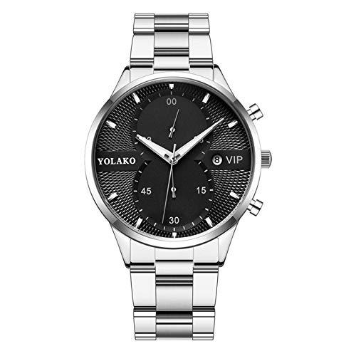 Axiba relógios masculinos de aço inoxidável luxuoso Quartzo relógio de pulso masculino