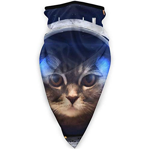 DFGHG Sicherheitsschutz, Gesichtsschutz, abwaschbares Tuch, Gesichtstuch Sun UV Protection Bandana,Us Cat Wearing A Spacesuit Sports Fan Headbands Neck Gaiter Reusable, Dust Scarf for Men Women