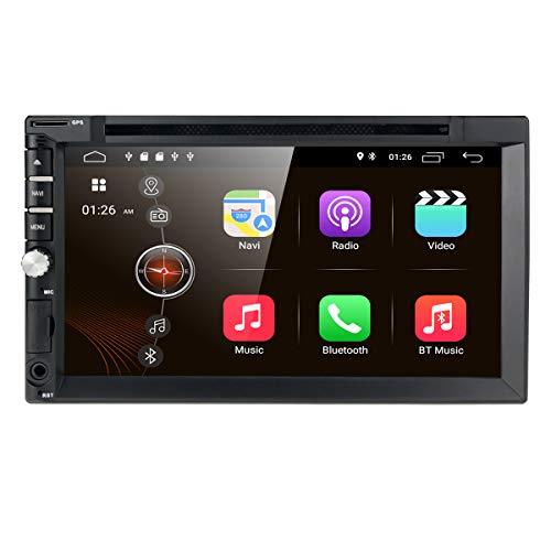 hizpo 7 Pollici 2 Din Android 10 Autoradio Universale Supporta la Navigazione GPS Bluetooth 4.0 Vivavoce WiFi DAB + 4G SD DSP Controllo del volante RDS