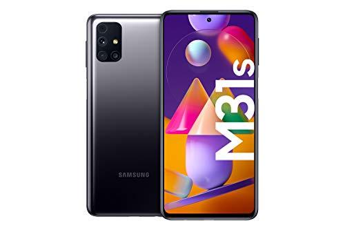 Samsung Galaxy M31s Android Smartphone ohne Vertrag, Quad-Kamera, 6,5 Zoll Infinity-O Super AMOLDED Display, starker 6.000 mAh Akku, 128 GB/6GB, Handy in Schwarz, deutsche Version exklusiv bei Amazon