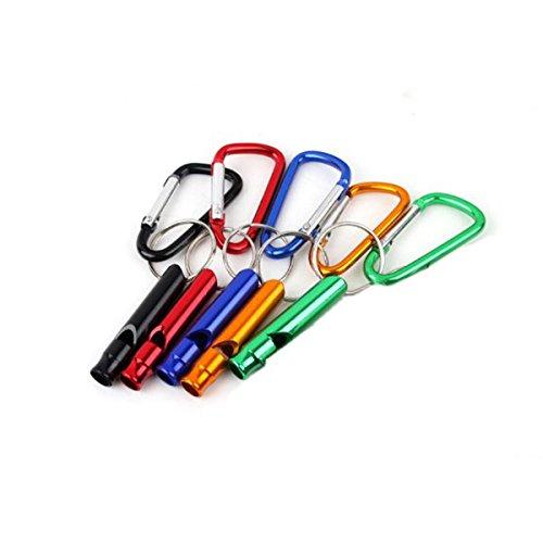PIXNOR clapet avec porte-clés de survie sifflet Lot de 5 (Coloris aléatoire)