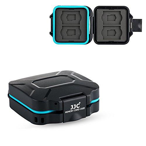 JJC Camera SD TF Micro SD Memory Card Case Holder Organizer Box for 4 SD