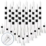HESTYA 100 Pieces Plastic Golf Tees 3-1/4 Inch and 1-1/1 Inch 5 Prongs Plastic Tees Side Durable Tees Reduce Friction Golf Tees for Golf Accessories