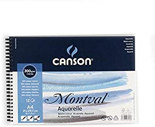 Canson Drawing book Watercolor A4, 12 papers, 300 g