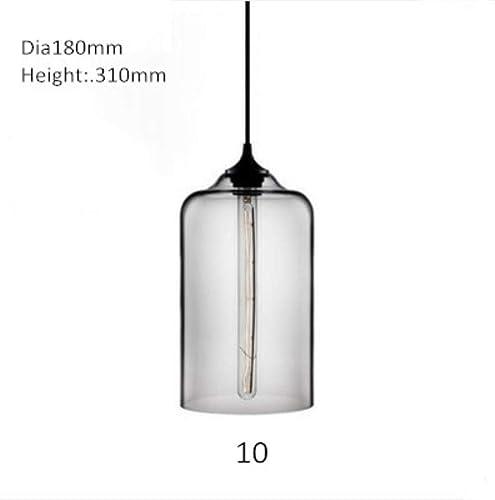 Moderne Pendelleuchte Kugel ronde Verre pendelleuchten Bunte Hanglamp für Küche restaurant leuchte luminaria Beleuchtung, 10 stil, hellbleu de verre