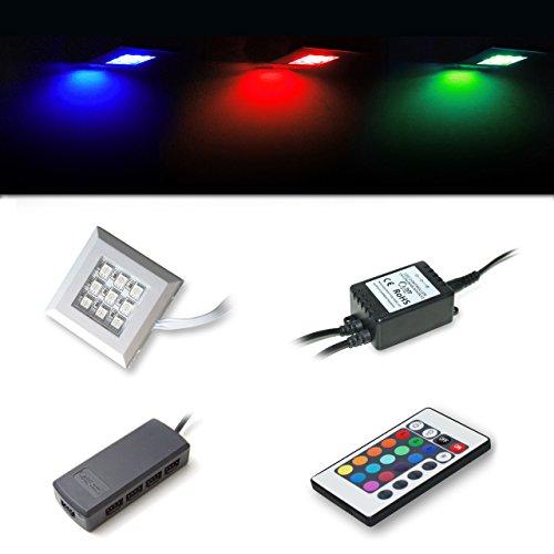 Vladon LED RGB Unterbaubeleuchtung 2er Set