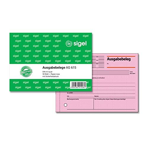 SIGEL AG615 Ausgabebeleg A6 quer, 50 Blatt, 1 Stück