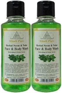 Khadi Pure Herbal Neem & Tulsi Face And Body Wash - 210 ml (Set Of 2)
