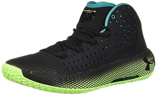 Under Armour UA HOVR Havoc 2, Chaussures de Basketball Homme, Noir (Black/Lime Light/Black (001) 001), 47.5 EU