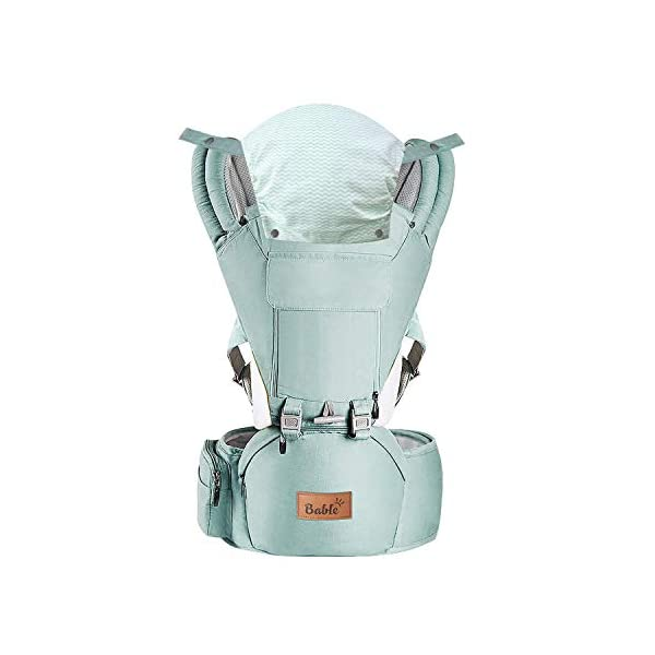 Bable Baby Carrier with Hip Seat, 6-in-1 Convertible Carrier, 360 Ergonomic Baby Carrier Backpack, Cool MESH for Spring and Summer – for 8-33lbs – Baby Wrap Carrier