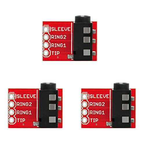 Gikfun TRRS 3.5mm Jack Breakout Headphone Video Audio MP3 Jack for Arduino (Pack of 3pcs) AE1223