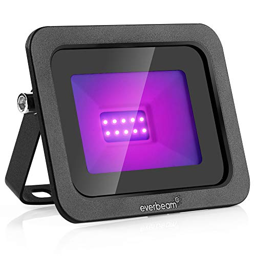 Everbeam 395nm 10W UV LED Black Light - High Performance LED Bulbs, IP66 Waterproof - Ultraviolet Flood Lighting for Aquarium, Indoor or Outdoor Parties, Stage - Party Supplies, Halloween Decorations