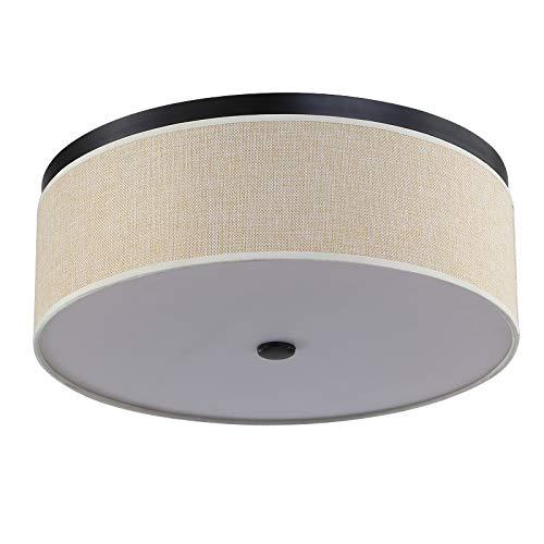 24 W LED plafondlamp Retro 3 kleuren dimbaar lampenkap lampenkap ronde verlichting hanglamp slaapkamer huis woonkamer eetkamer kantoor Ø 40 cm x H 15 cm