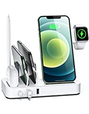 $33 » Tiitarn Wireless Charging Station for Multiple Devices, 7 in 1 Fast Wireless Charger Stand with 2 USB and PD Ports, Desktop Charging Dock for iPhone iPad AirPods iWatch Apple Pencil Android Samsung