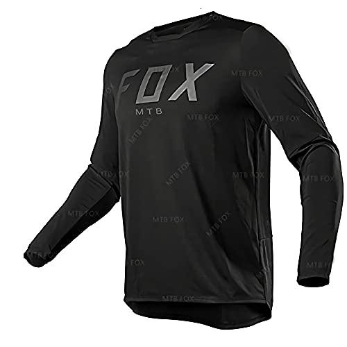 Camiseta de manga larga para niños MTV, para bicicleta de montaña o montaña, color negro Imagen XXXL
