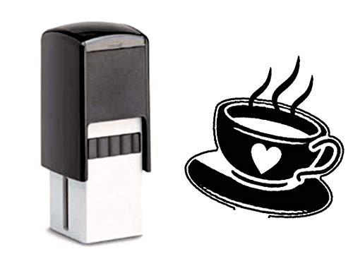 Bonuskartenstempel Stempel mit Motiv - Kaffee Kaffeetasse - für Bonuskarte 10x10mm