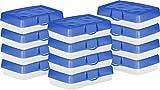 Storex Pencil Case, 8.38 x 5.63 x 2.5 Inches, Blue, Box of 12 (STX61613U12C)
