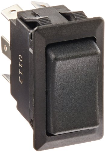 """Price comparison product image Rocker Switches,  On Off-On Circut Function,  DPDT,  20 / 10 amps at 125 / 250 VAC,  0.75"""" Width,  1.348"""" Height,  0.762"""" Depth,  Black"""